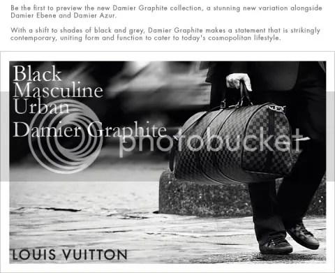 Louis Vuitton Presents Damier Graphite