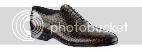 Louis Vuitton Spy Richelieu in  Python Leather