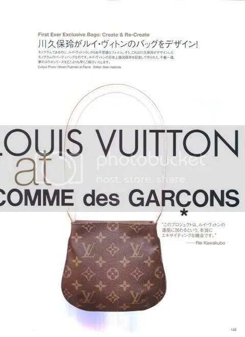 Louis Vuitton at Comme des Garçons Bags at Vogue Nippon