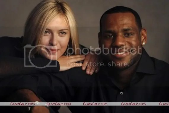 Maria Sharapova and LeBron James