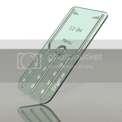 Amazing Transparent Crystal Phone Concept