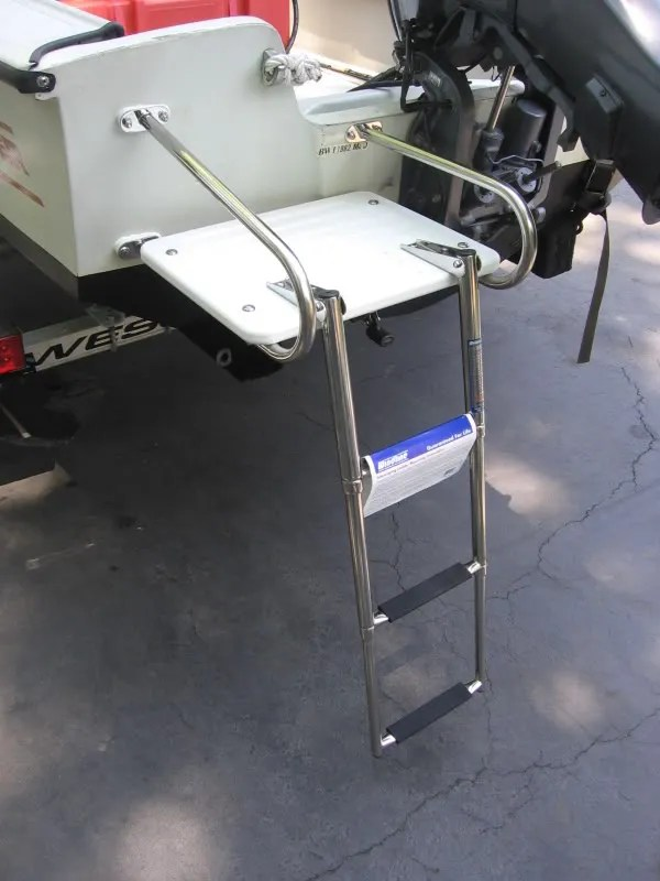 Boston Whaler 17 Montauk Swim Platform And Ladder EBay