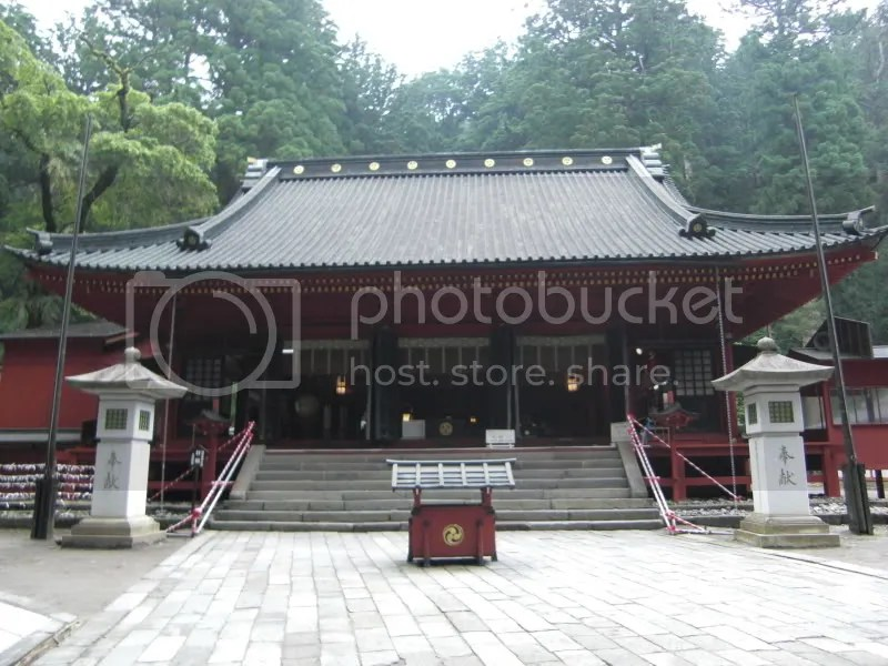Futarasan Shrine with a few animal paintings of wolf, deer and horse...