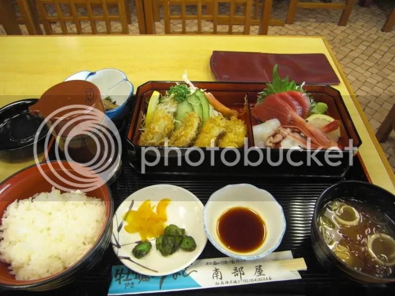 Masamune Teishoku, very fresh, very oishii...!
