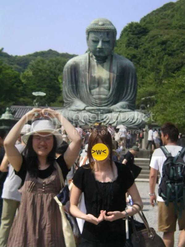 Trying to meditate like the Buddha behind us but somehow its anatomically impossible.