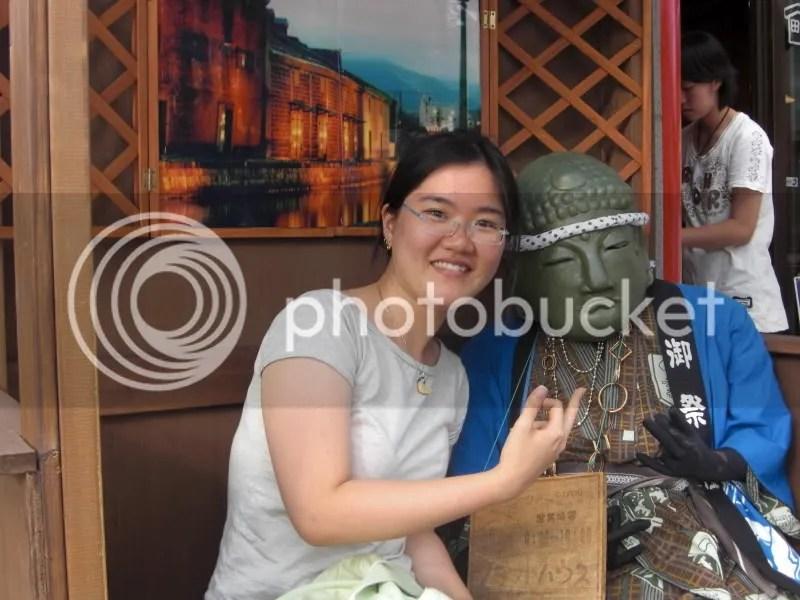 Yo! Buddha brotha~ A weird looking mannequin in one of Otarus shops...