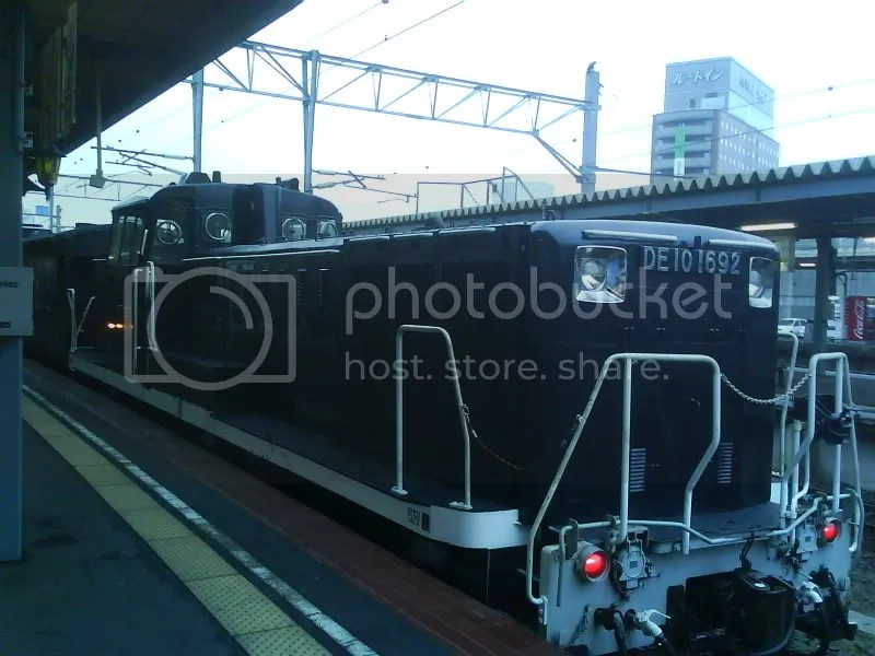 JRs train to Onuma. Very traditional steam engine!