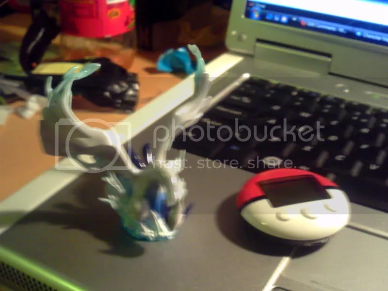 Lugia Statue and Pokewalker