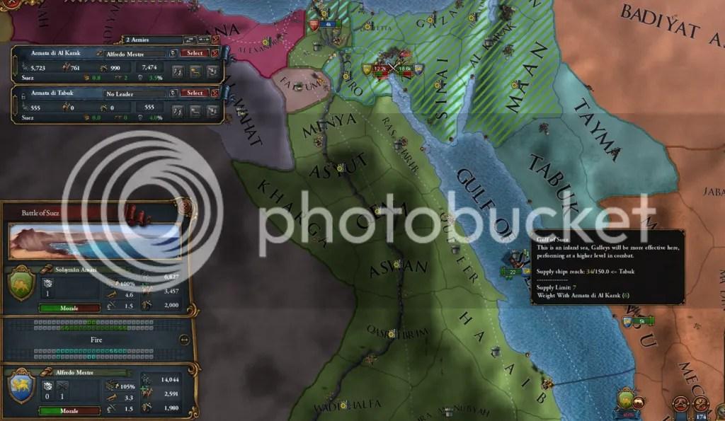 Suez, 1537