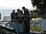 Official launch as dignitaries pour quarters into an ammo box photo 13_FtMcHenryQtr_Launch-01.jpg