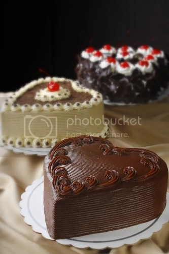 Heart-shaped cakes