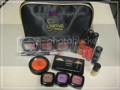 Sigma pouch and NYX products