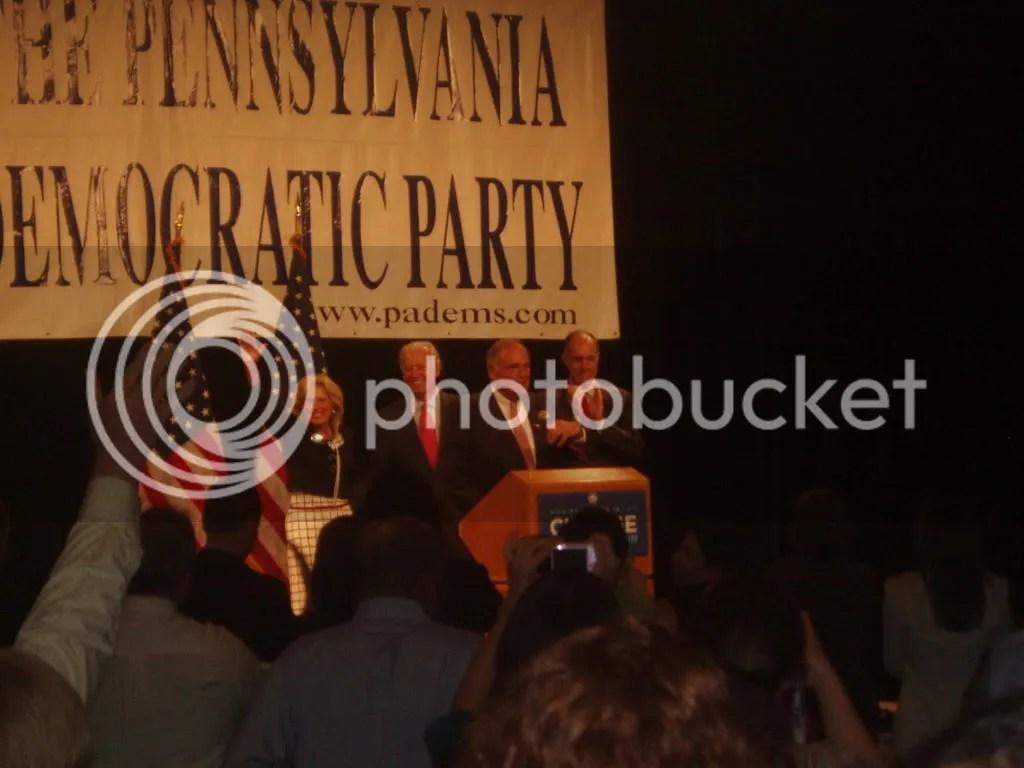 Joe and Jill Biden, Ed Rendell, Bob Casey Jr.