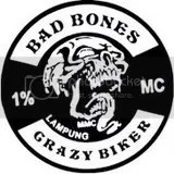 Bad bones 1% Crazy Bikers Lampung