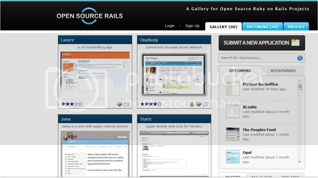 open source rails screenshot