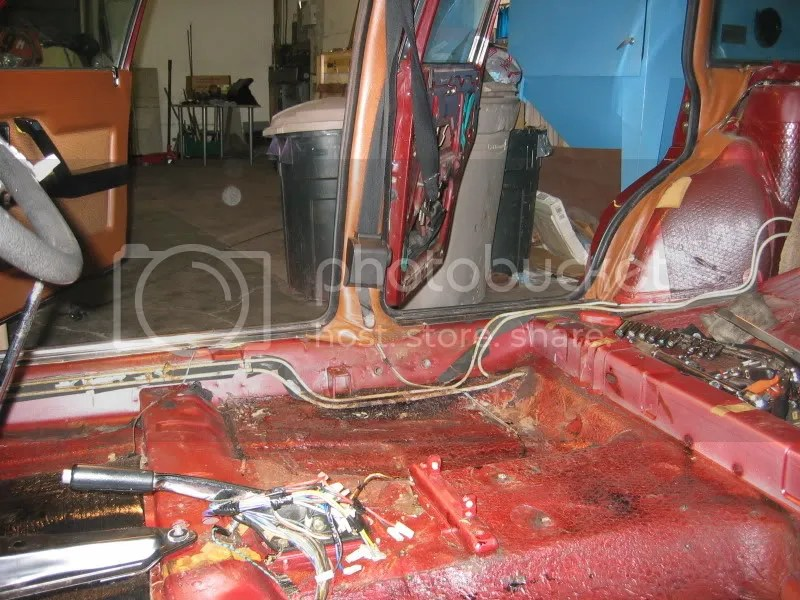 Lancia Beta stripped interior