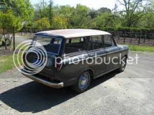 1962 Datsun 312 wagon rear