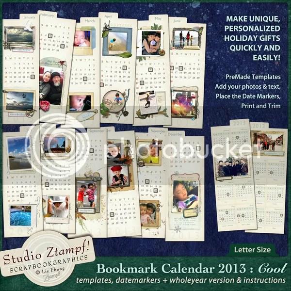 Ztampf! COOL Bookmark Calendar 2013 - Letter