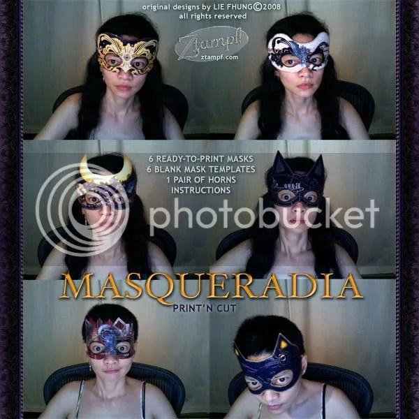 Masqueradia PrintN Cut Mask Templates Set