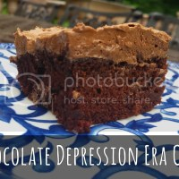 Depression (??) Era Chocolate Cake