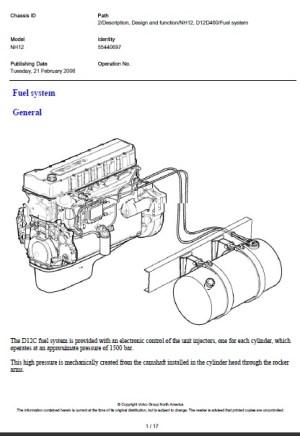 Volvo NH Fuel system   Auto Repair Manual Forum  Heavy Equipment Forums  Download Repair