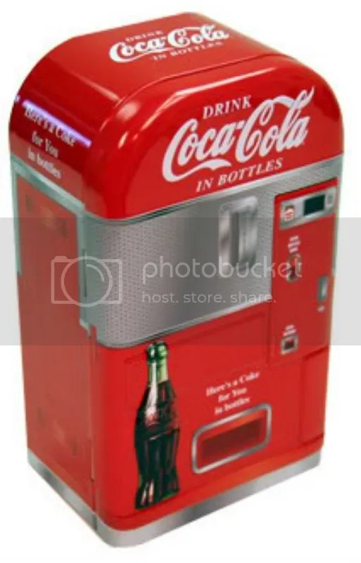 Coca-Cola Vending Machine Tin Container Vintage Coke