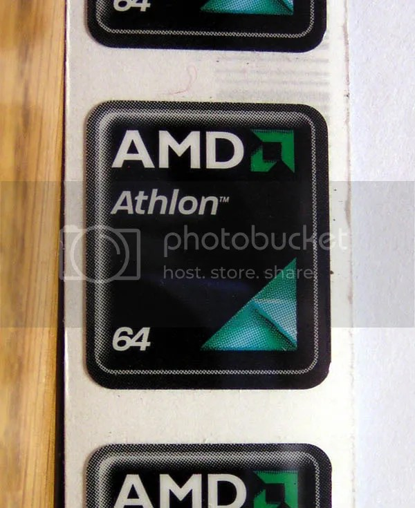 AMD Athlon 64 HIGH GLOSS Black background 18mm x 21mm