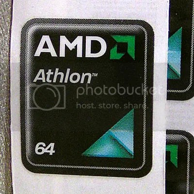 AMD Athlon 64 18mm x 21mm VERY shiny