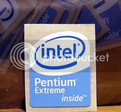 Intel Pentium Extreme Inside 19mm x 23mm