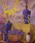 composition in gold and violet