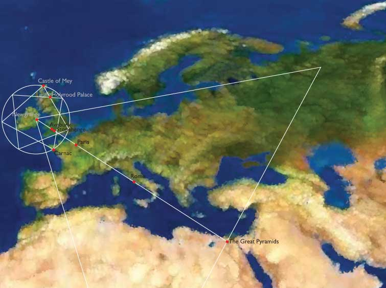 Ley Lines Southern California Map.Ley Lines Map Southern California