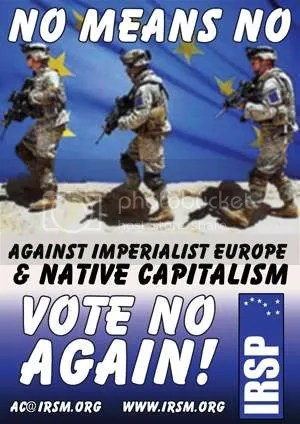 Cartel elaborado por el Partido para la segunda votacion