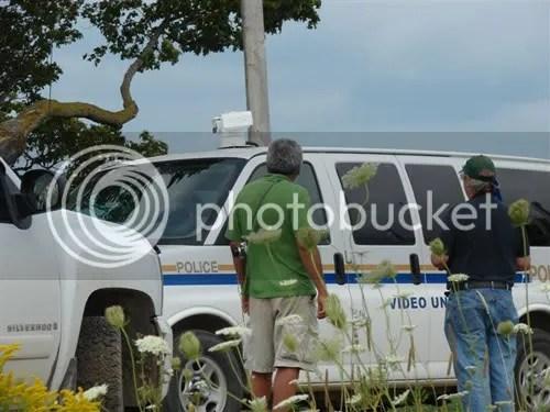 OPP video surveillance van arrives.