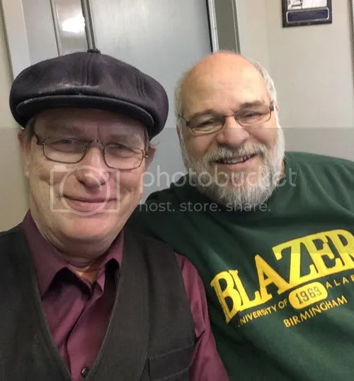Michael Schmidt with CFOS radio host Dave Carr in the studio Feb. 27th.