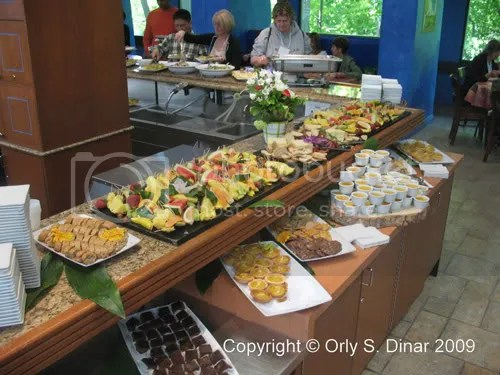Some of the great organic food prepared for the conference.