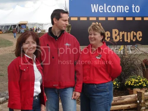 Agriculture Minister Leona Dombrowsky, Premier Dalton McGuinty, Huron Bruce MPP Carol Mitchell