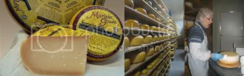 Great wheels of artisan Gouda. Picture from the farms website.