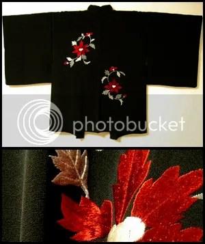 embroidered haori
