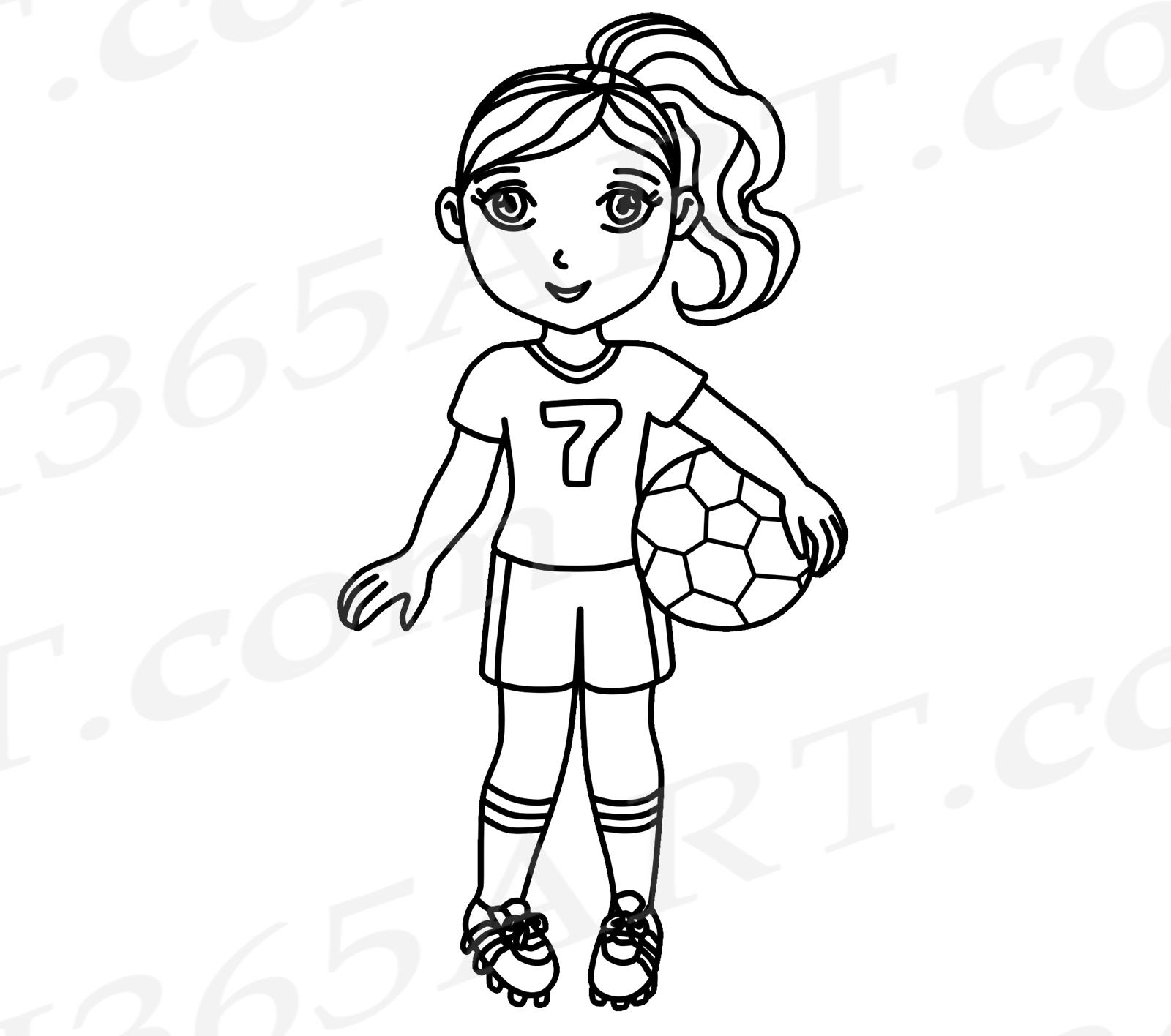 Soccer Pink Soccer Girl Clipart Sports Clip Art World