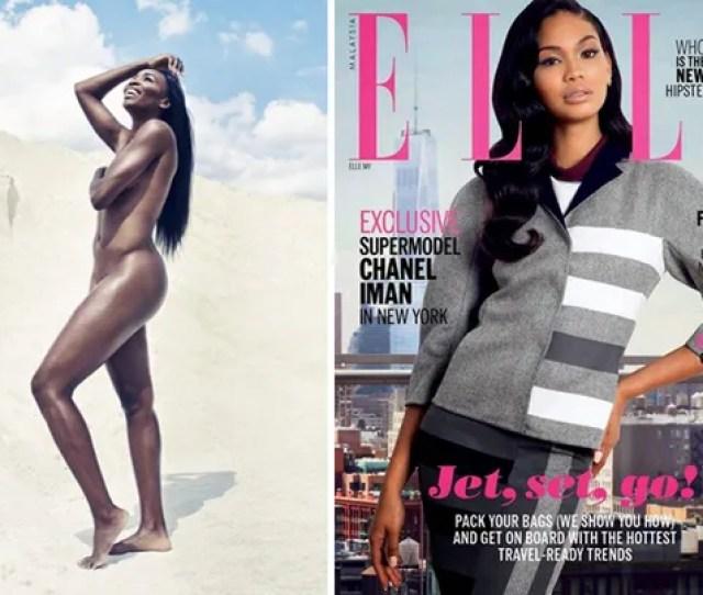 Magazine Killas Venus Williams Goes Totally Nude For Espn Magazines Body Issue Chanel Iman Rocks Elle Malaysia In Stunning Cover Spread