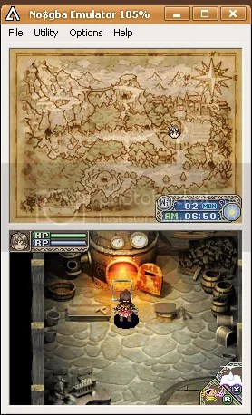 Screencap Rune Factory: A Fantasy Harvestmoon No$gba