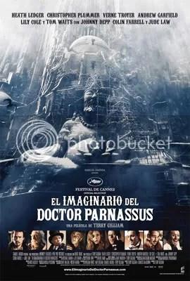 Cartel de El imaginario del doctor Parnassus