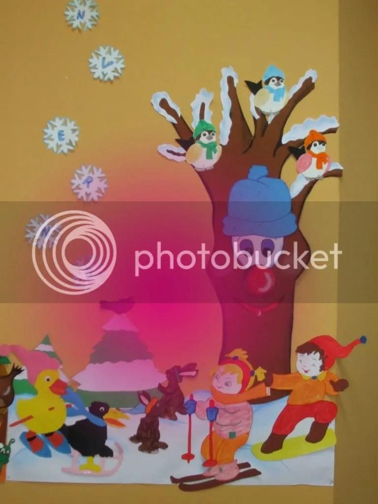 L'albero invernale: addobbo per aula