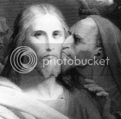 Judas-Iscariot_wa.jpg Judas betrays Jesus image by raziahproductions