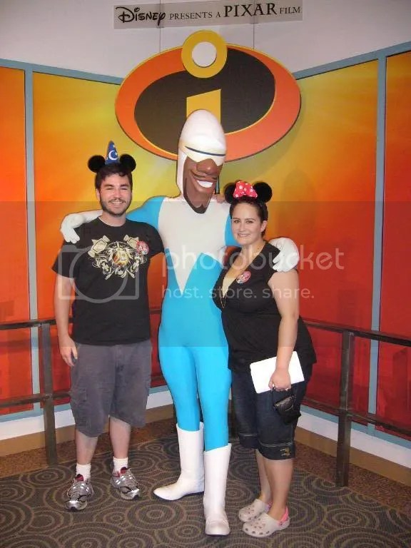 Us with Frozone, right before the kiss, lol
