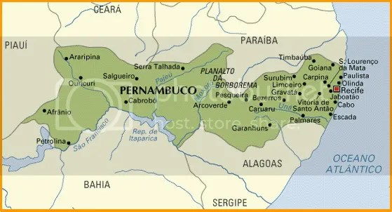 Etat de Pernambouc - Brésil