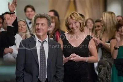 Love between Dustin Hoffman and Emma Thompson in Last Chance Harvey