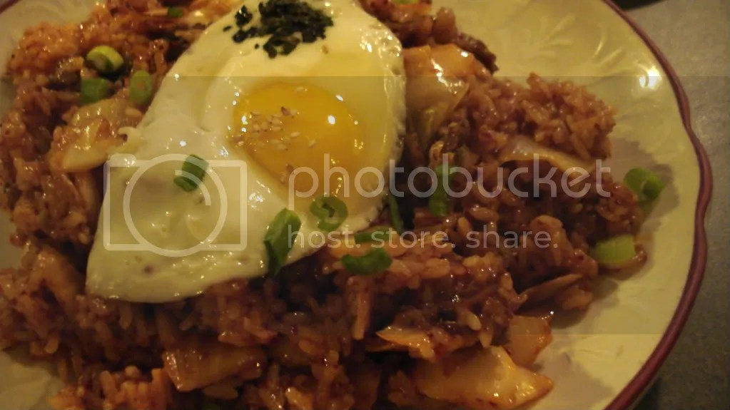 Kimchee Fried Rice with Beef.