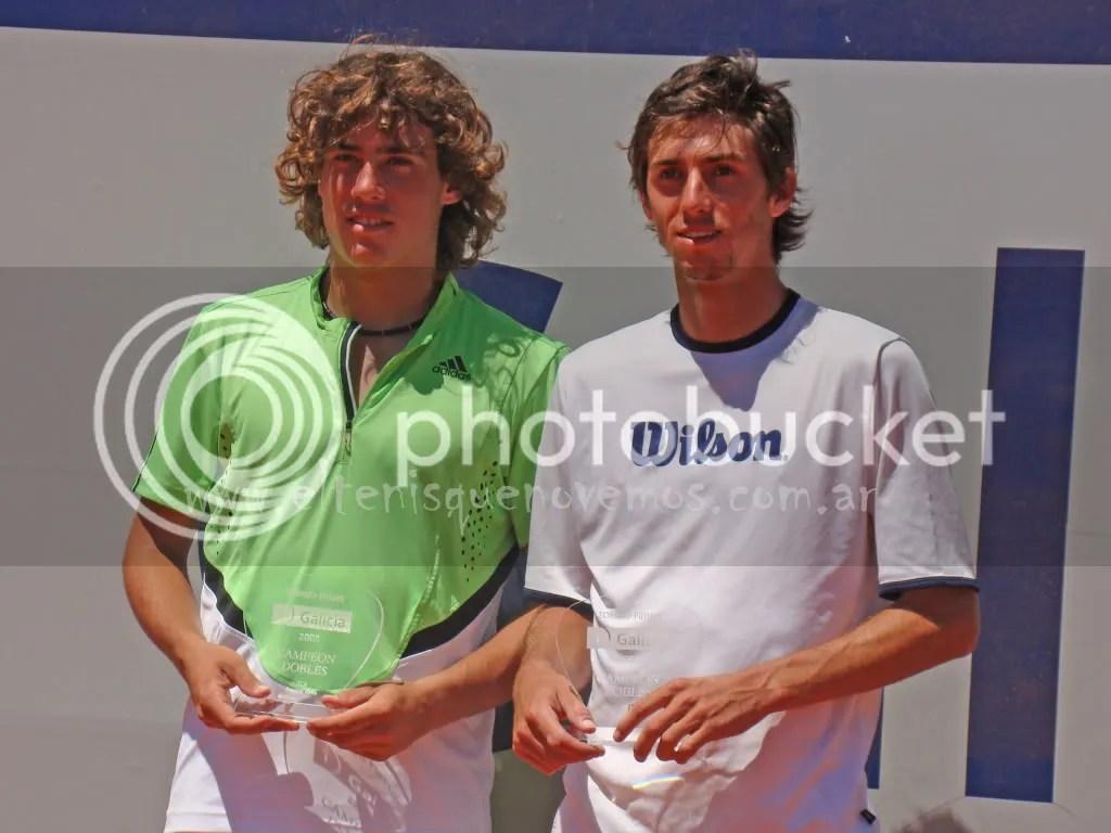 Los Campeones de Dobles. Guido Pella y Andrés Molteni.