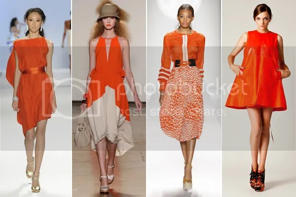 Tangerine Fashion Style Color 2012